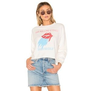 Daydreamer Rolling Stones Cropped Top NWT